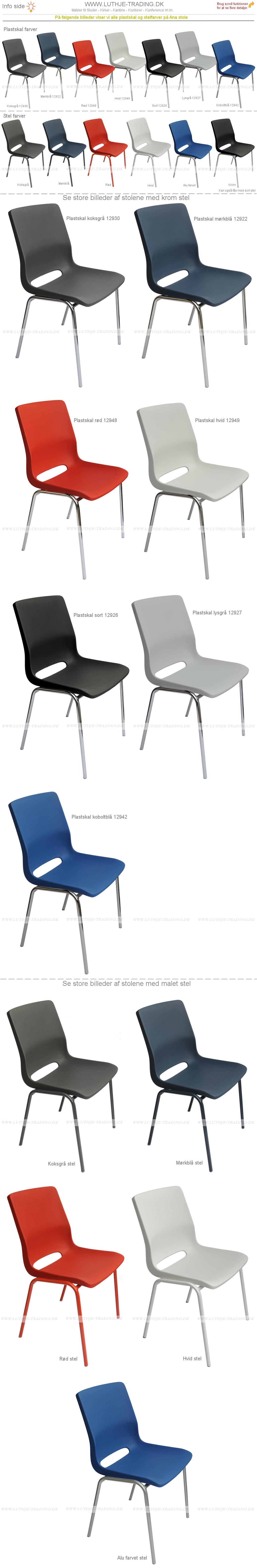 Ana stole skal & stel farver